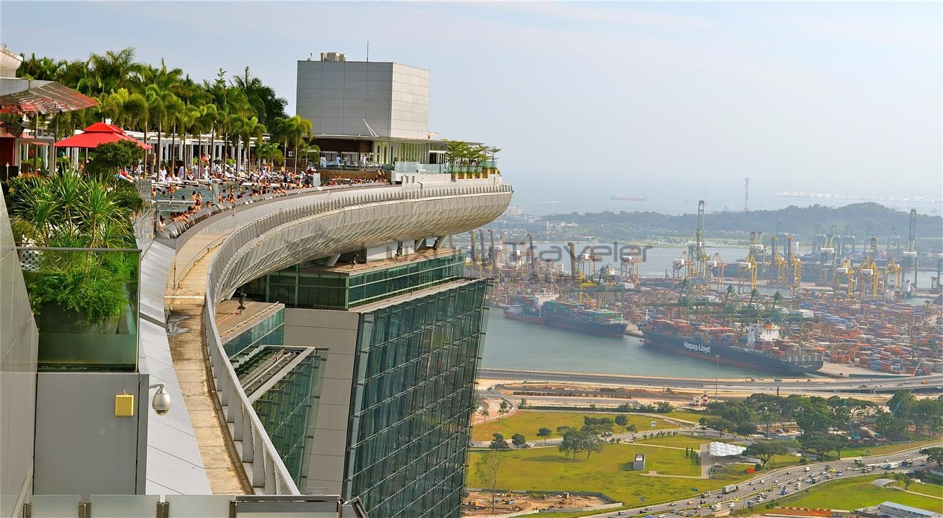 Marina bay sands singapore outstanding luxury hotel - Rooftop swimming pool in singapore ...
