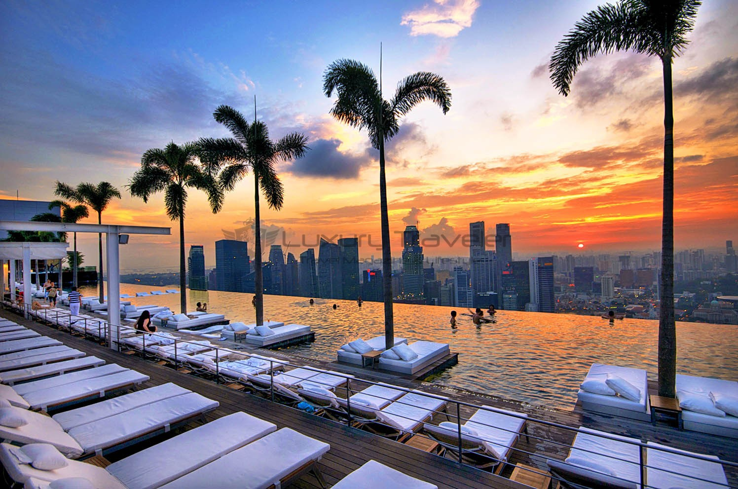 Marina bay sands singapore outstanding luxury hotel luxury traveler - Marina bay singapore pool ...